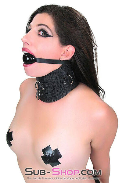 9764M      Conquered Slave Posture Collar - Sale BDSM, Bondage Gear, Adult Toys, Bondage Sex, Orgasm Belt, Male Chastity, Gags. Bondage Slave Collars, Wrist Cuffs, Submissive, Dominant, Master, Mistress, Crossdresser, Sub-Shop Bondage and Fetish Superstore