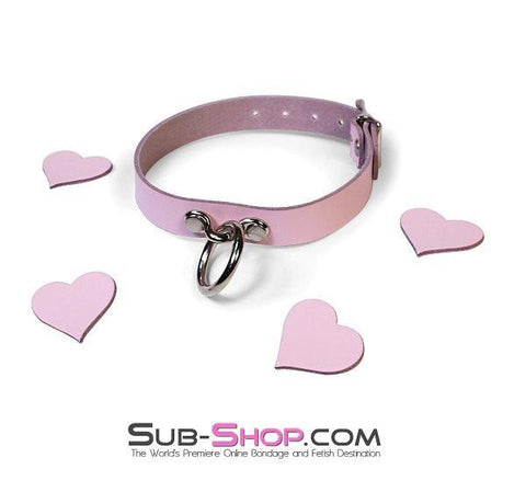 982A      Princess Pink Leather Spellbound Collar - Sub-Shop.comCollar - 2