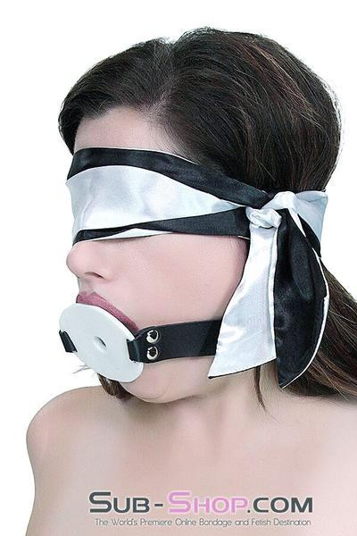 9835M      Love Me Knots Silver & Black Satin Blindfold, Gag, or Tie Up - <b>MEGA Deal</b> - Sale BDSM, Bondage Gear, Adult Toys, Bondage Sex, Orgasm Belt, Male Chastity, Gags. Bondage Slave Collars, Wrist Cuffs, Submissive, Dominant, Master, Mistress, Crossdresser, Sub-Shop Bondage and Fetish Superstore