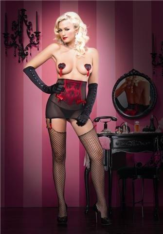 9838L      Femme Fatale Sheer Bow Back High Waist Garter Belt and G-String Set - <b>MEGA Deal</b> - Sale BDSM, Bondage Gear, Adult Toys, Bondage Sex, Orgasm Belt, Male Chastity, Gags. Bondage Slave Collars, Wrist Cuffs, Submissive, Dominant, Master, Mistress, Crossdresser, Sub-Shop Bondage and Fetish Superstore