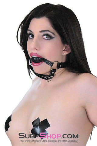 9922RS      Beginner's Black Ball Chin Strap Bondage Ball Gag - Sub-Shop Bondage and Fetish Superstore