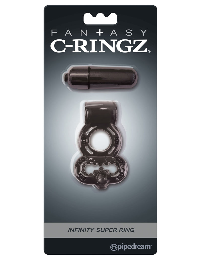 Vibrating Fantasy C-Ringz Infinity Super Ring, Black - Sale BDSM, Bondage Gear, Adult Toys, Bondage Sex, Orgasm Belt, Male Chastity, Bondage Gag. Bondage Slave Collars, Wrist Cuffs, Submissive, Dominant, Master, Mistress, Cross Dressing, Sex Toys, Bondage Sale, Bondage Clearance, MEGA Deal Bondage, Sub-Shop Bondage and Fetish Superstore