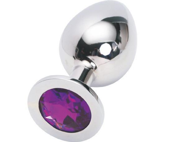 2312HS    Chromed Steel Crystal Anal Plug, Large Plug, Amethyst Crystal - <b>MEGA Deal!</b> - Sale BDSM, Bondage Gear, Adult Toys, Bondage Sex, Orgasm Belt, Male Chastity, Gags. Bondage Slave Collars, Wrist Cuffs, Submissive, Dominant, Master, Mistress, Crossdresser, Sub-Shop Bondage and Fetish Superstore