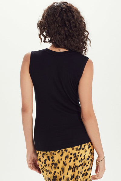 Goldie Ribbed Sleeveless Tee