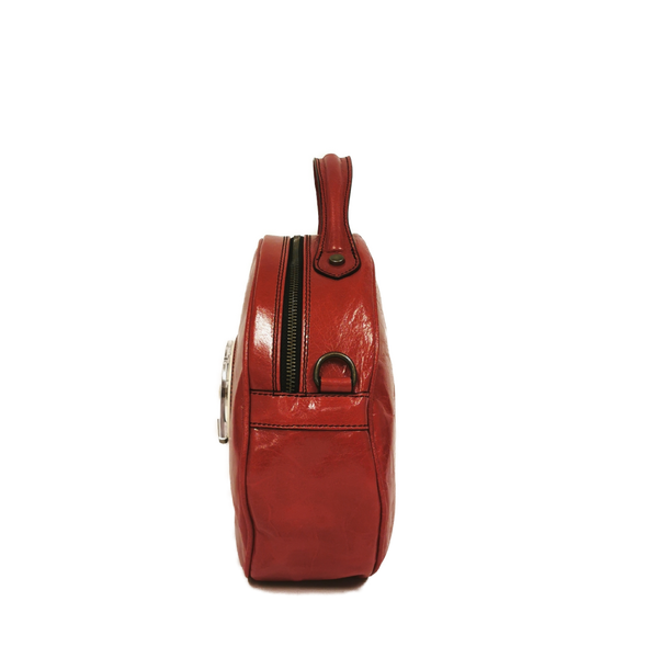 Circle phone bag rosso amaranto