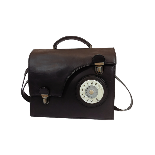 Work phone bag nero waxy