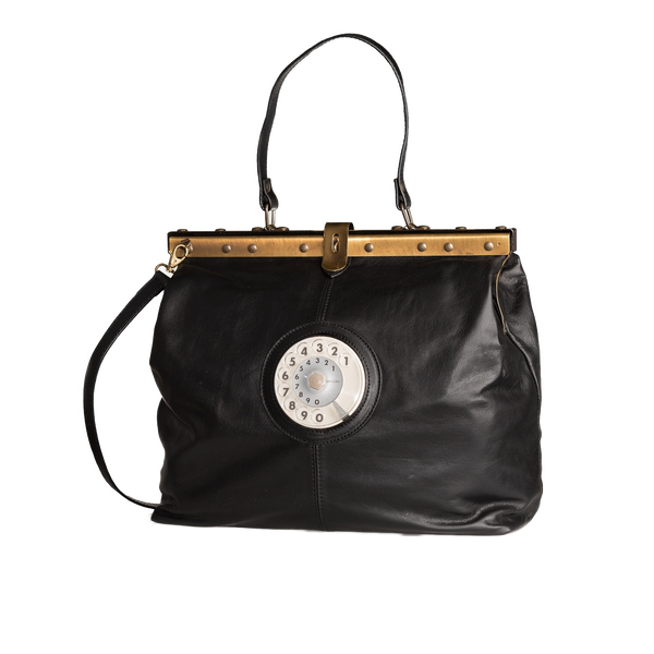 Mary phone bag leather black