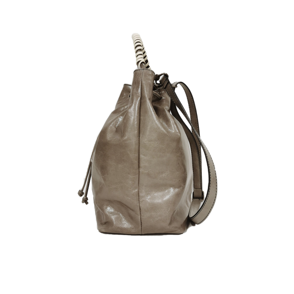 Bucket phone bag grigio giallo