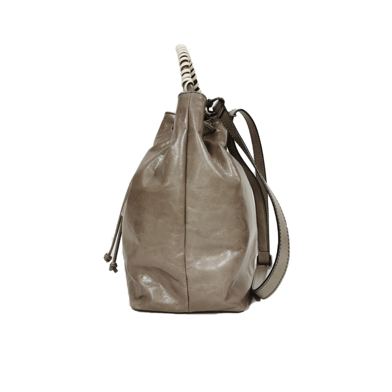 Bucket phone bag gray yellow