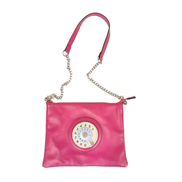 Lucky phone bag silver pink