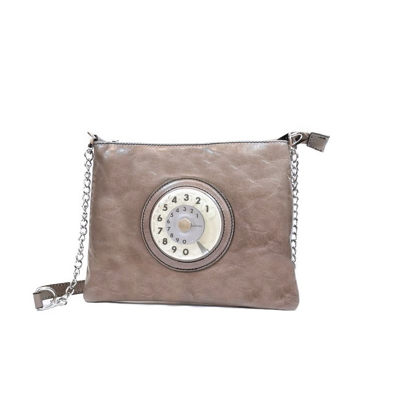 Lucky phone bag silver grigio