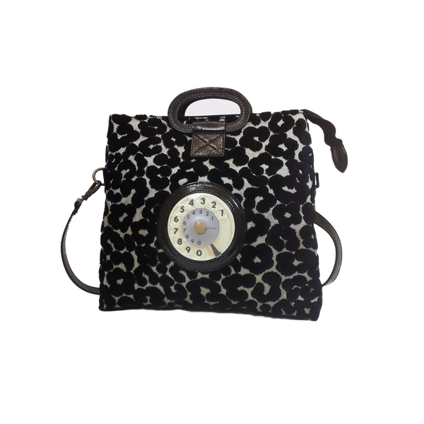Emma phone bag leopardino nero