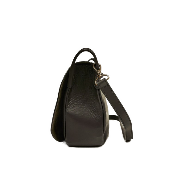 Saddle phone bag waxy nero