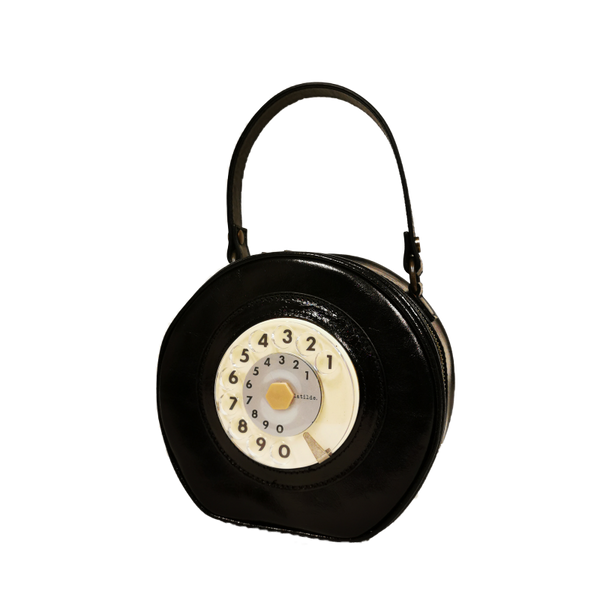 Mini circle phone bag black