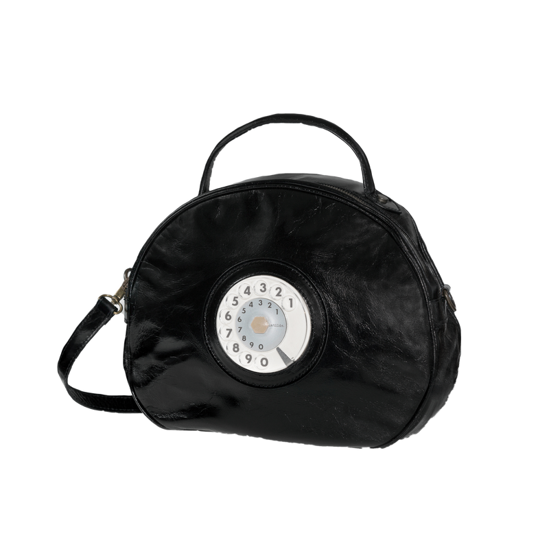 Circle phone bag black