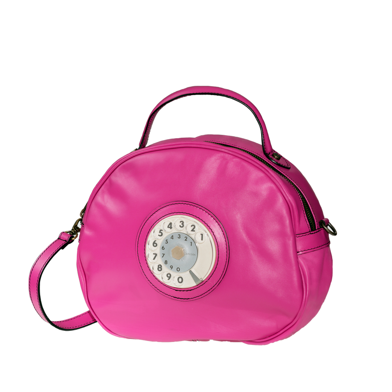 Circle phone bag fucsia