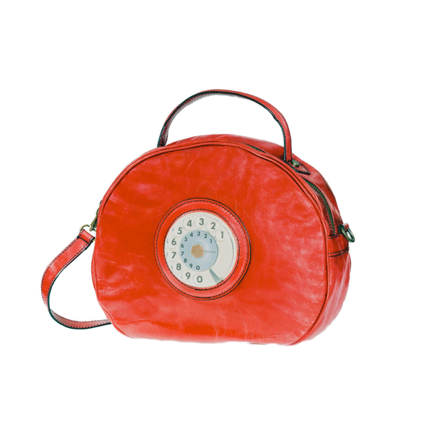 Circle phone bag rosso corallo