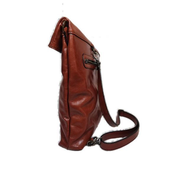 Flat phone bag cuoio