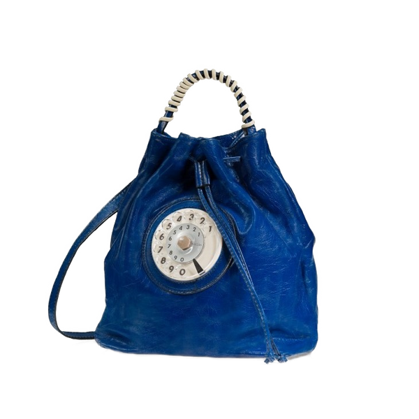 Bucket phone bag cobalto