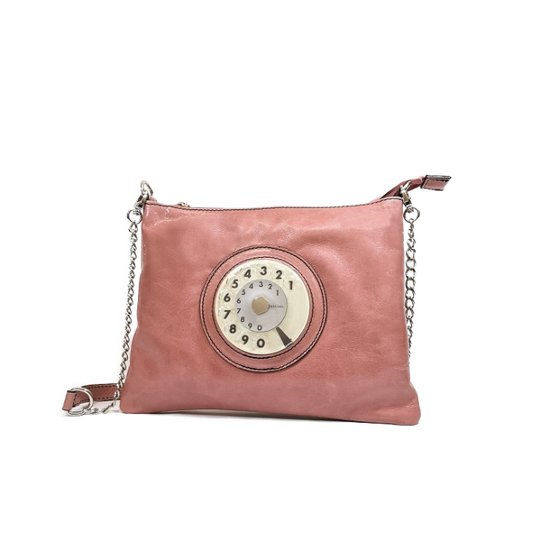 Lucky phone bag silver rosa