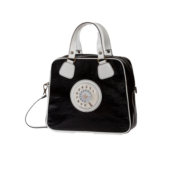 Strike phone bag nero avorio