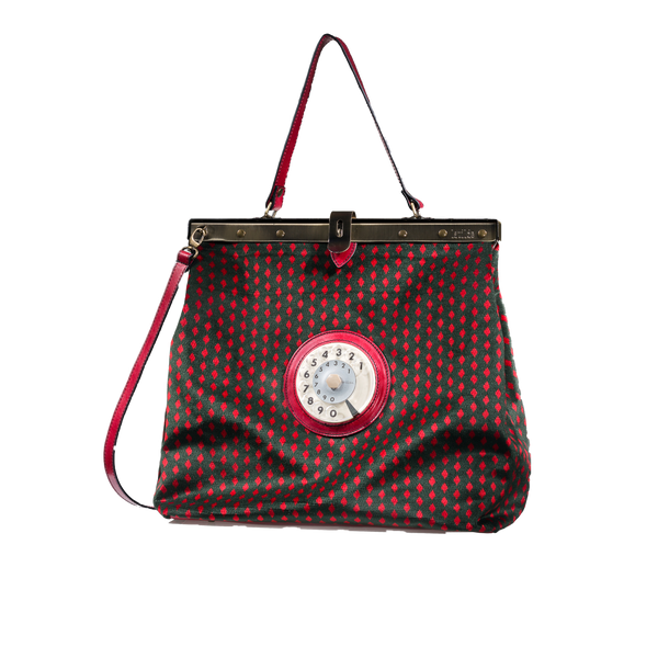Mary phone bag red rhombus