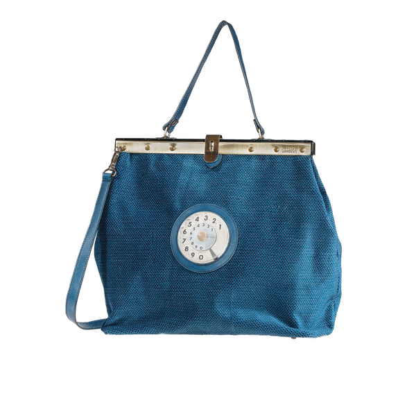 Mary phone bag blue velvet