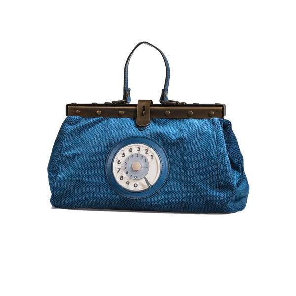 Doctor phone bag easy velluto blu