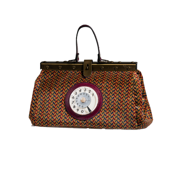 Doctor phone bag easy spigato bordeaux