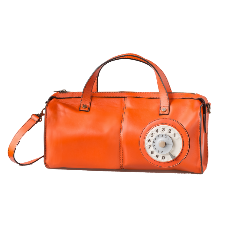 Toffee phone bag tan leather