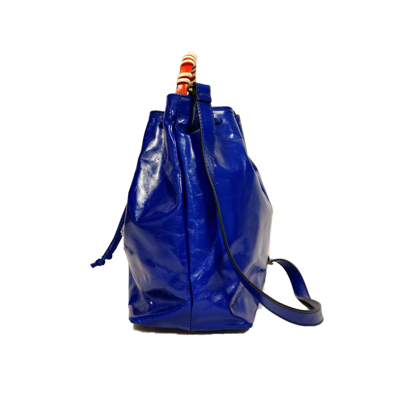Bucket phone bag cobalto arancio