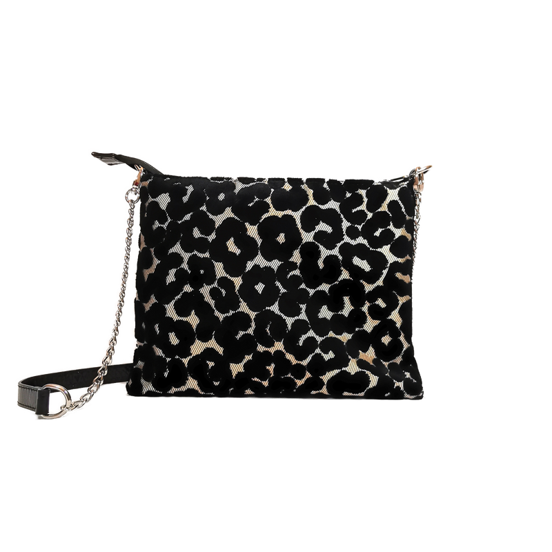 Lucky phone bag black leopard