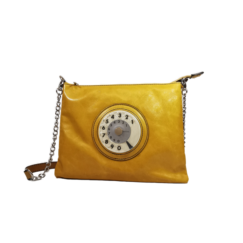 Lucky phone bag silver mustard
