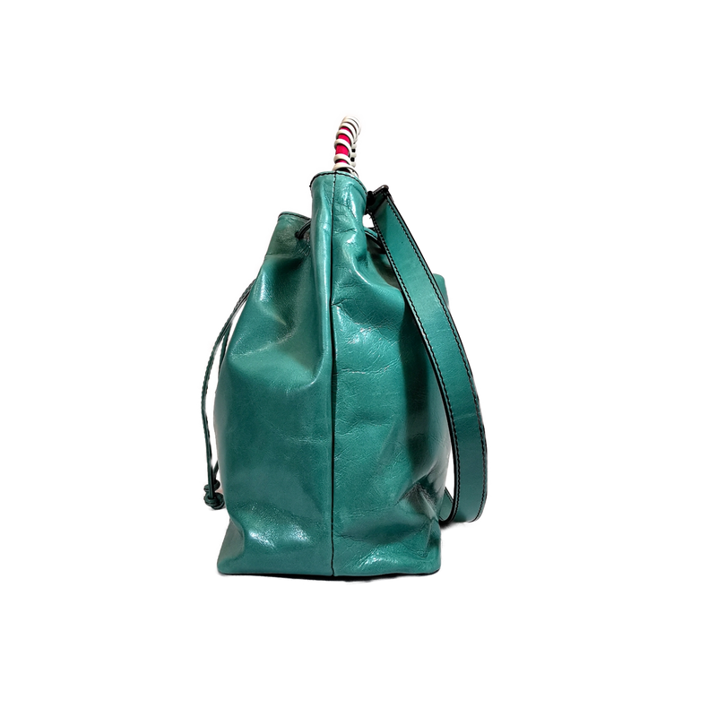 Bucket phone bag acqua marina, fucsia