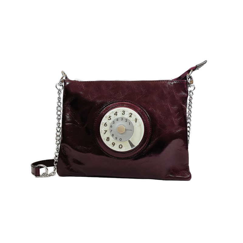 Lucky phone bag silver bordeaux