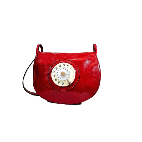 Saddle phone bag rosso
