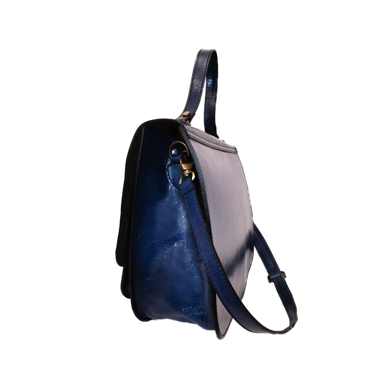 Marty phone bag blu ottanio