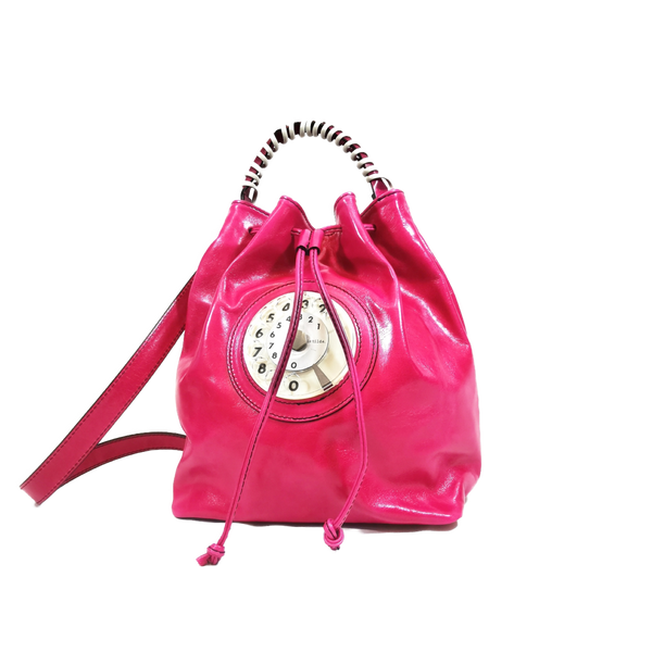 Bucket phone bag fucsia