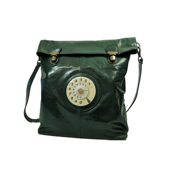 Flat phone bag green