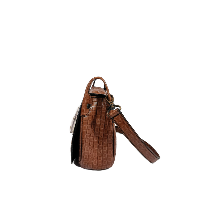 Saddle phone bag waxy black