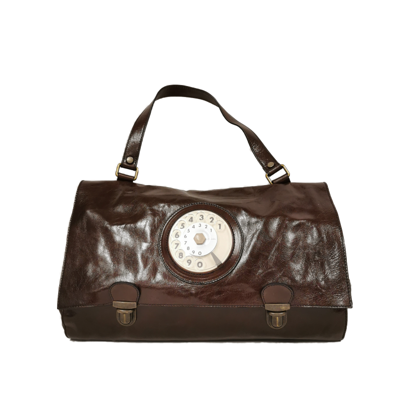 Daily phone bag dark brown