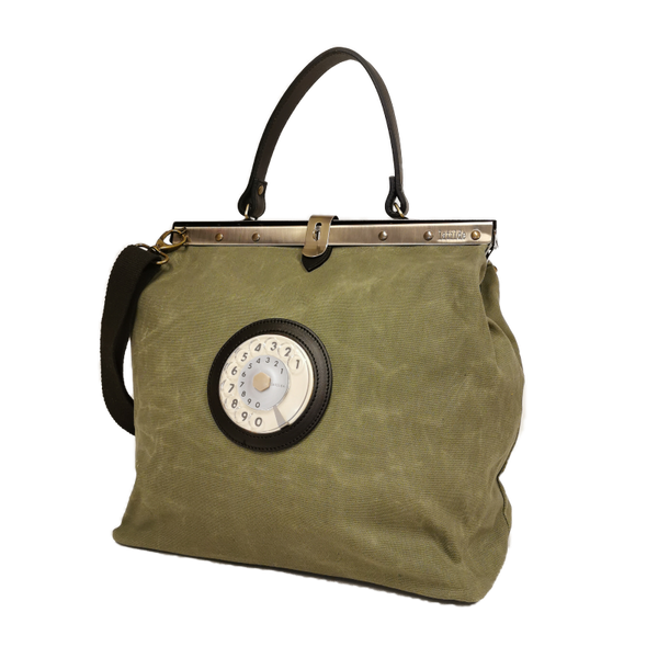 Mary phone bag cerata verde