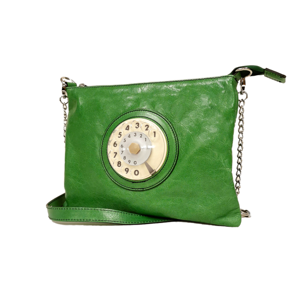 Lucky phone bag silver verde