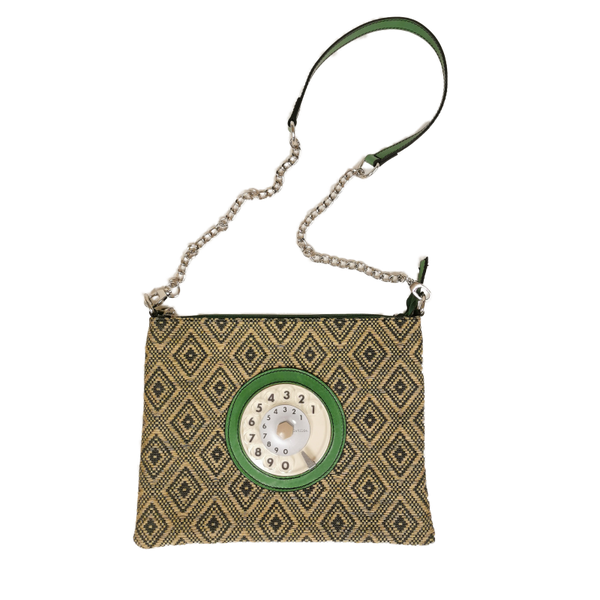 Lucky phone bag silver easy optical verde