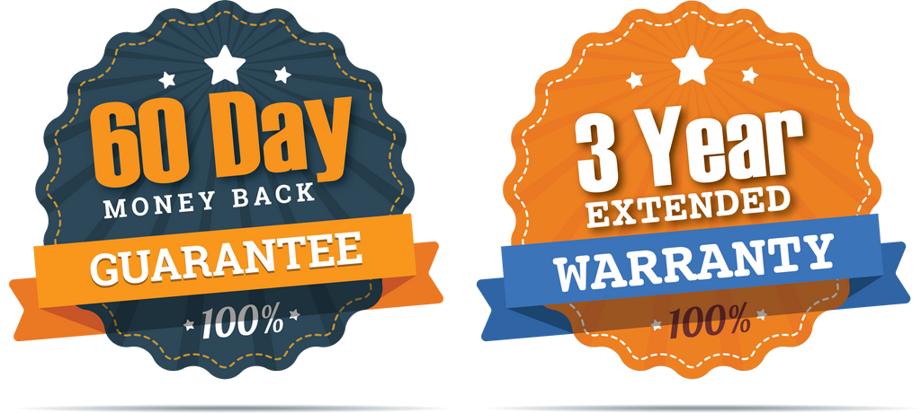 3-Year Warranty & 60-Day Money Back Guarantee