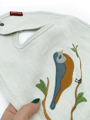 Spring Robin Applique Bib