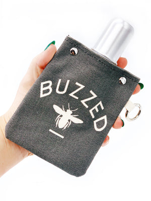 Buzzed Take It With You Canvas Flask
