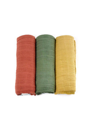 Cotton Muslin Swaddle Blankets- Solid Colors