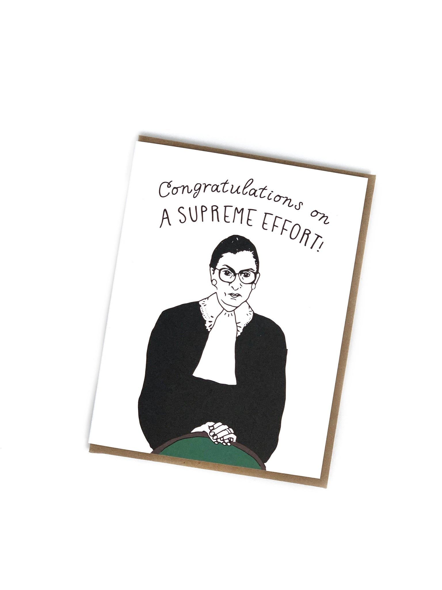 Congratulations On A Supreme Effort Card