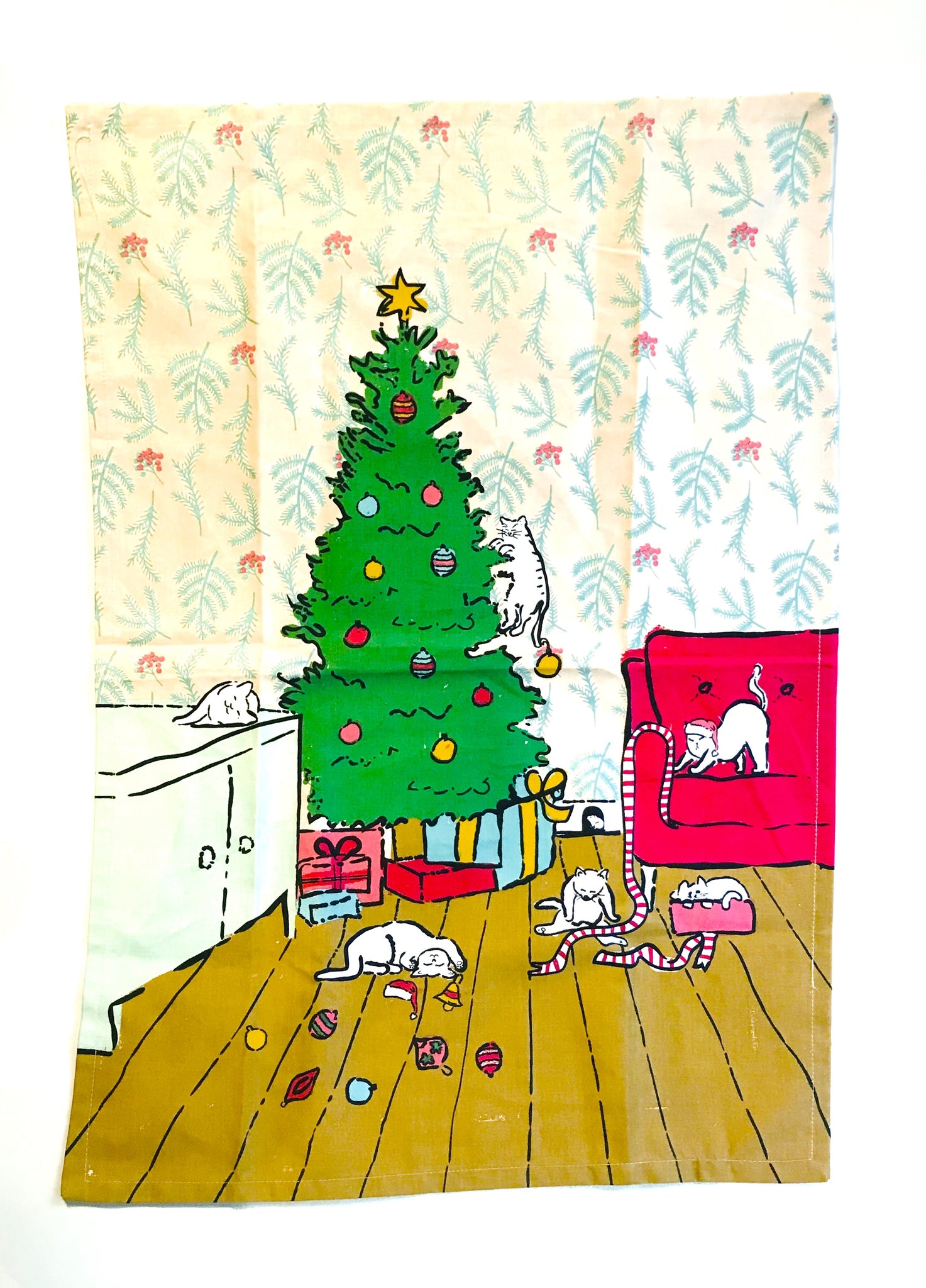 Christmas Cats Dish Towel